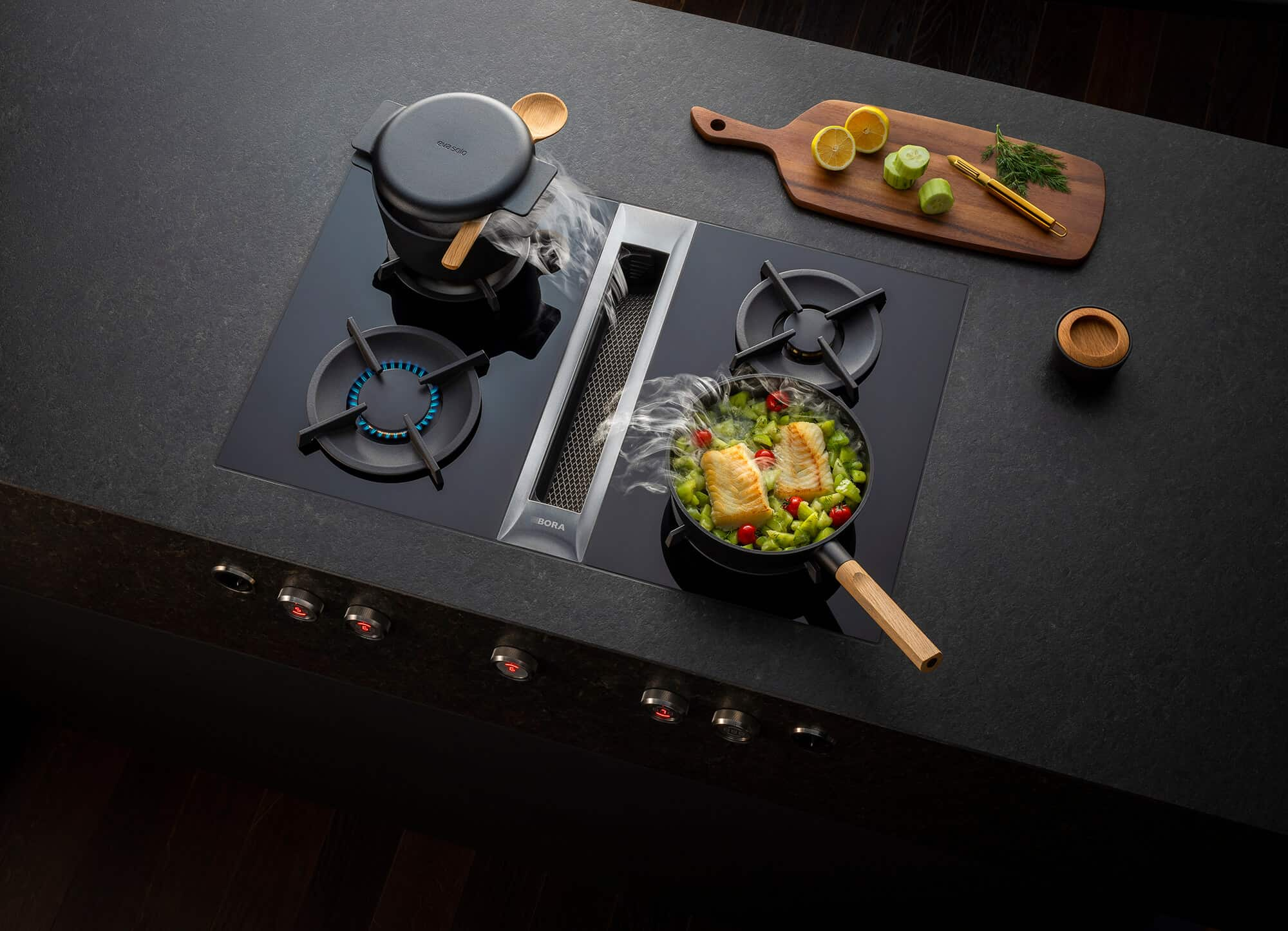 Bora-Professional-dunstabzug-kabeljau-kochen-kochfeldabzug