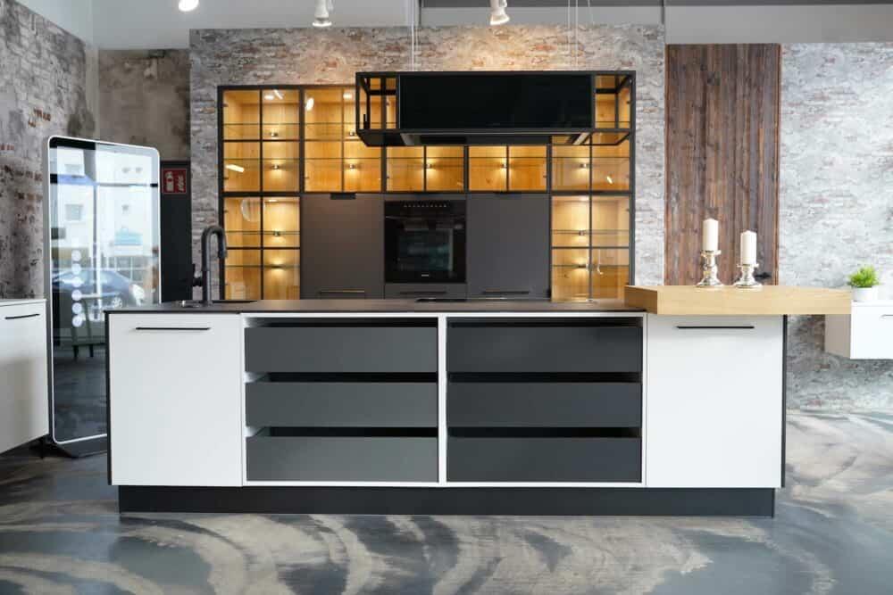 Ballerina Küche mit Kücheninsel Design hochwertig
