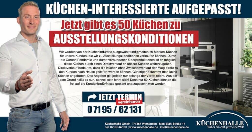 Küchenhalle Aktion 50 Küchen zu Ausstellungspreisen