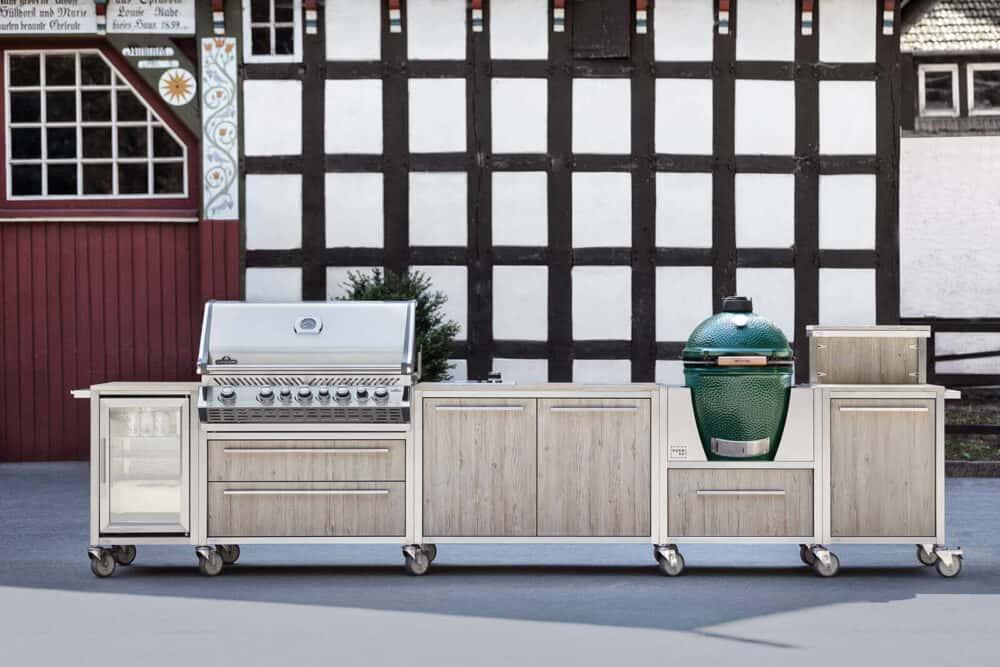 Burnout Outdoor Küche Küchenzeile Oak edelstahl