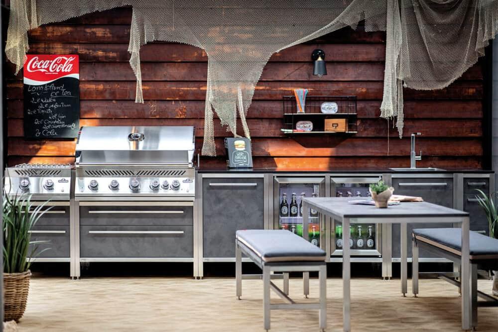 Burnout Outdoorküche Küchenzeile Napoleon Grill