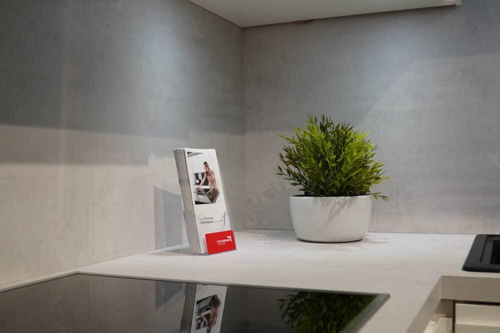 Design L-Küche eiche Arbeitsplatte