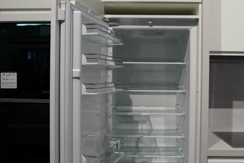 L form Design Küche kühlschrank