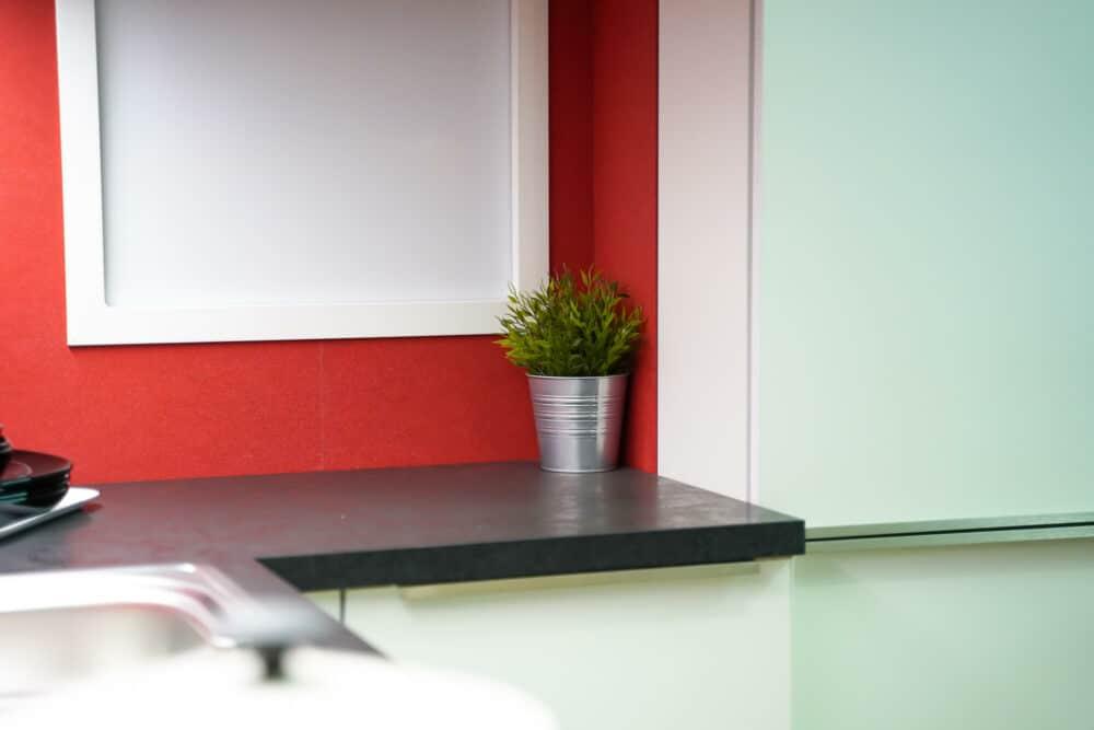 Arbeitsfläche Bauformat L-Küche weiß matt