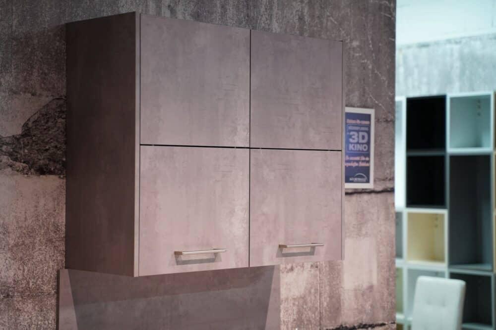 Ballerina Y-Küche Oberschrank beton Optik grau