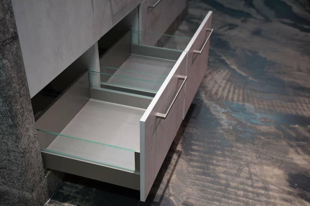 Ballerina moderne Küche Beton Auszüge