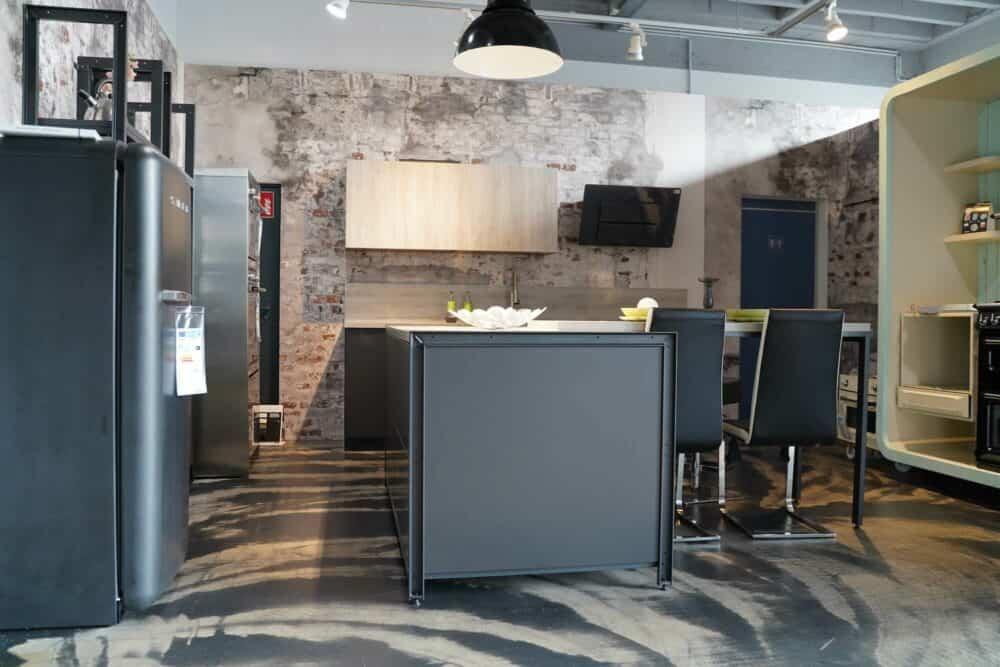 Bauformat Industrial Style Kücheninsel matt lack