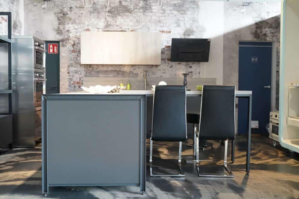 Bauformat Kücheninsel industrial Style matt lack
