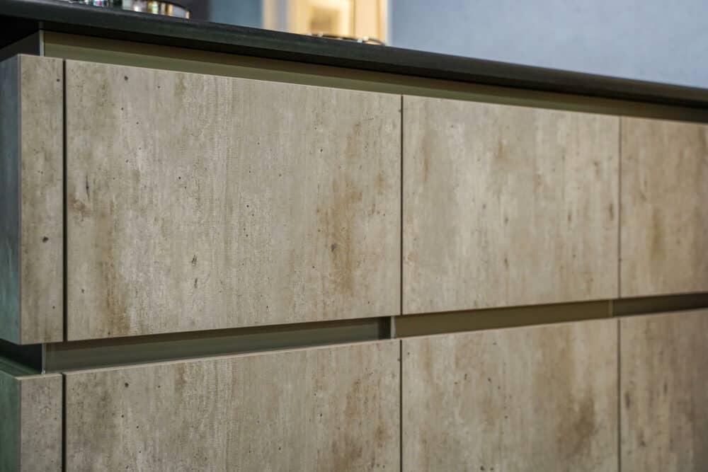 Beton Küchenfronten melaminharz grifflos