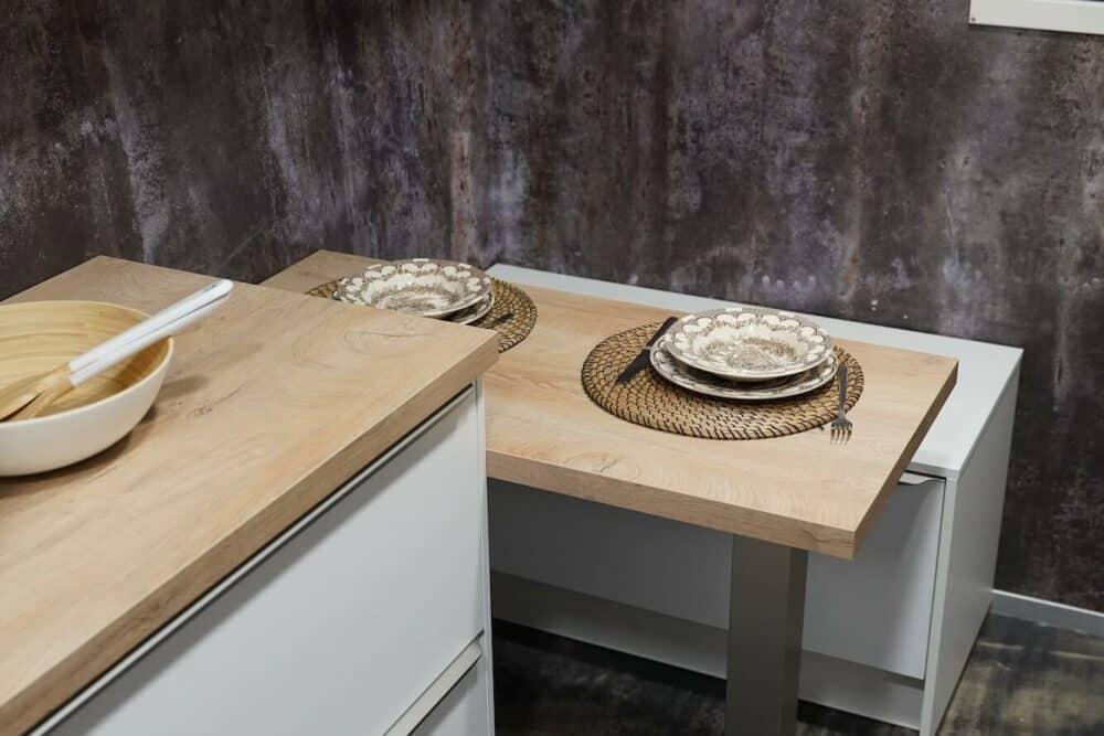 Burger Küchenzeile Holz Arbeitsplatte Esstresen