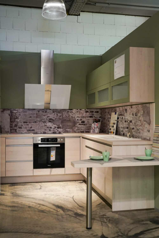 L-Küche design grifflos mit griffmulden