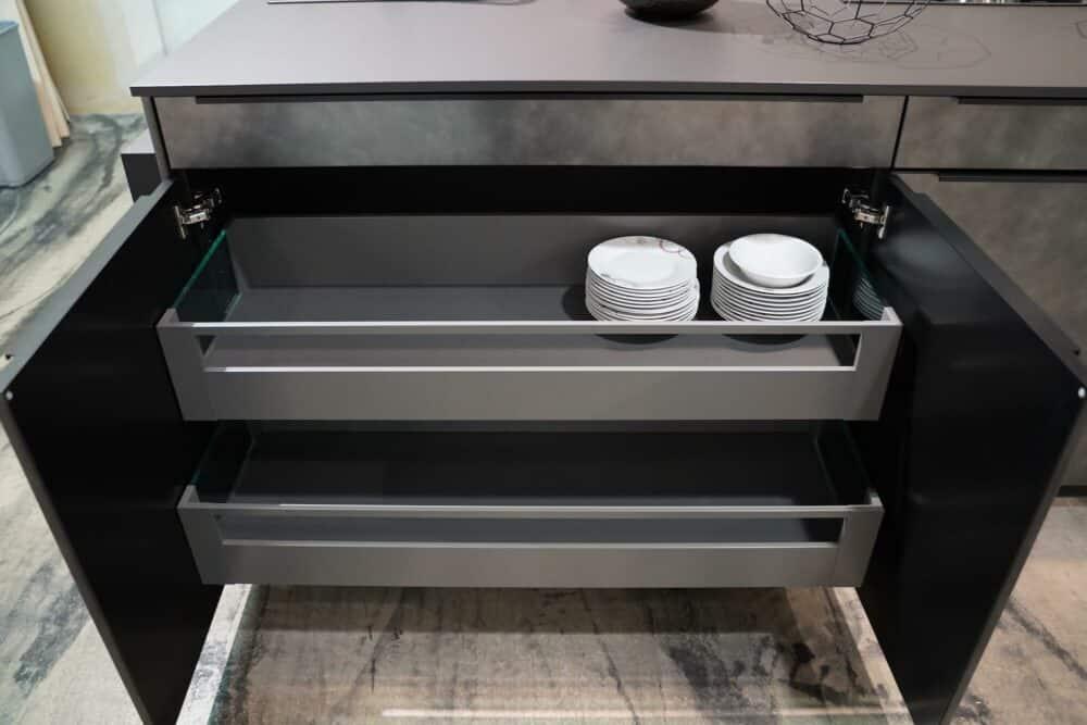 Metallic Kücheninsel Auszüge Schubladen