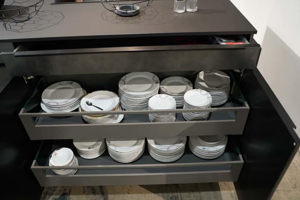 Moderne Kücheninsel Auszüge Schubladen Geschirr