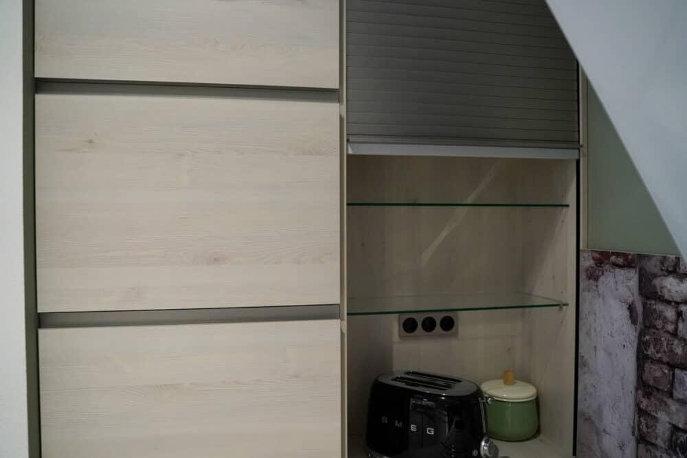 Schränke Stauraum und Jalousienschrank Design L-Küche