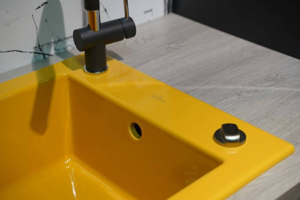 Villeroy & Boch Keramik Küchenspüle gelb